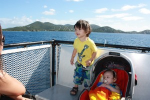Kids first Ferry ride:) It was a beautiful warm sunny day...