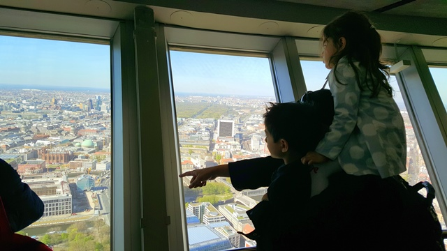 we went up the TV tower for a quick look of the city. Kids was too excited to look down and asked too many questions.