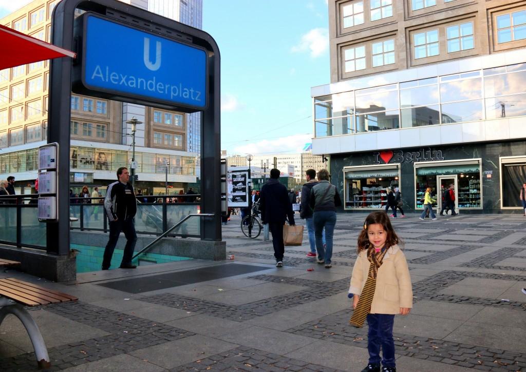 My girl at Alexanderplatz Station