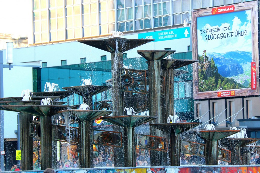 Fountain of International Friendship; was erected in 1970 and consists of 17 shells from which the water cascades. The materials used in its construction were copper, glass, ceramic and enamel.