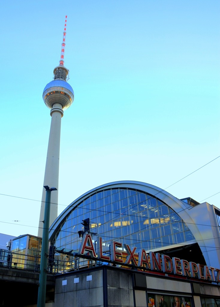 The Fernsehturm (TV Tower) - 368-meter-high tower, a landmark and symbol of Berlin, first came into operation in 1968