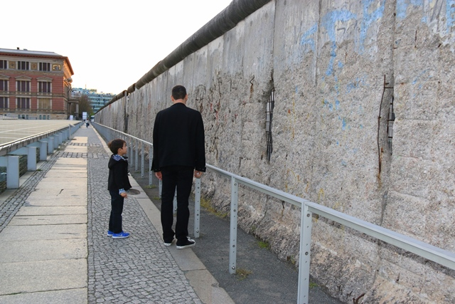 My boy was interested about Berlin wall. Asking a lot of questions:)
