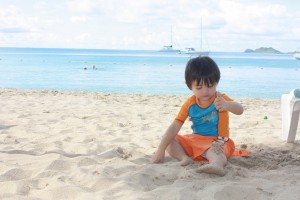 He gotta spend his 2 yr old birthday at the beach.  #thankful