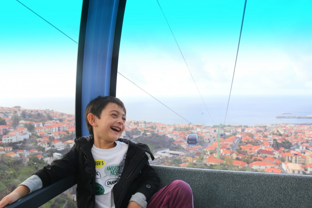 My boy enjoying the cable car ride... Love his smile:)
