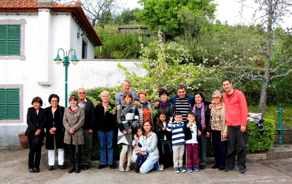 Together with some of the family who lives in Madeira