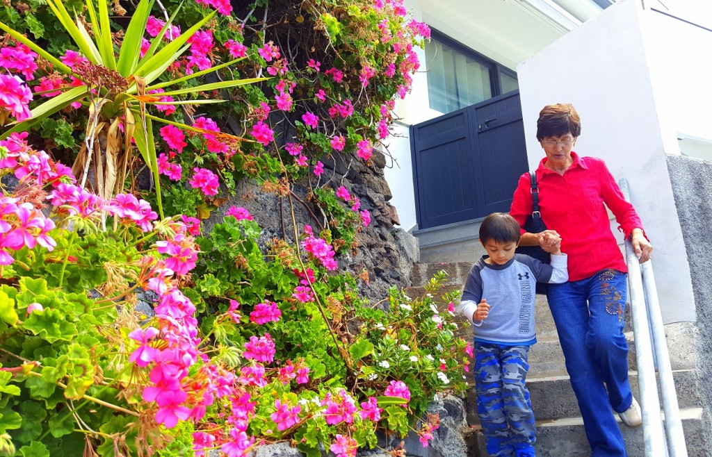 My boy and Avo... those flowers by the cliff... gorgeous!!!