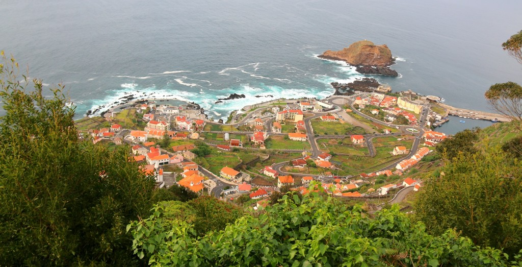 Porto Moniz from the top of the mountain