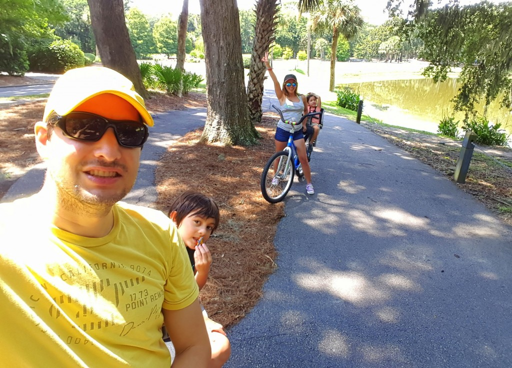 Mommy and Daddy's 1st bike ride with the kids...