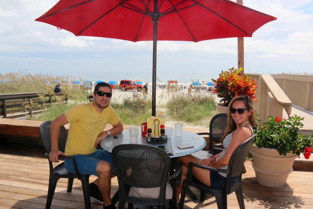 Must-go when you're in HHI; try the fish & shrimp tacos... so delicious. The view is a bonus:)