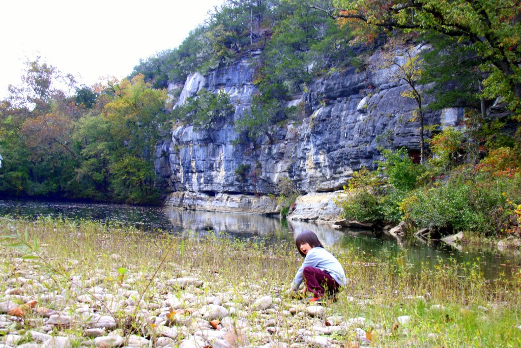 Part of Buffalo River... it was beautiful. Kids had fun just throwing stones into the water:)