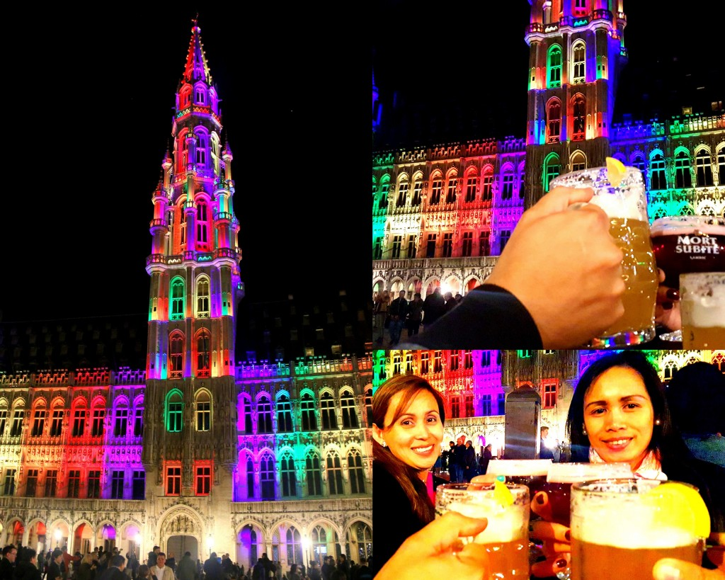Meeting an old friend is always a great idea:) Ending our day with a Belgian Beer...