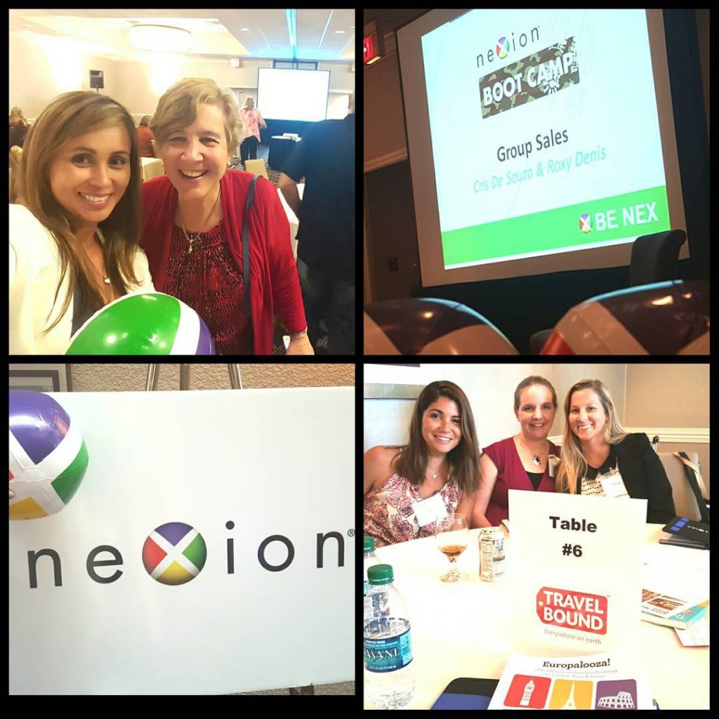 Upper left picture - with Nexion's President, Jackie Friedman