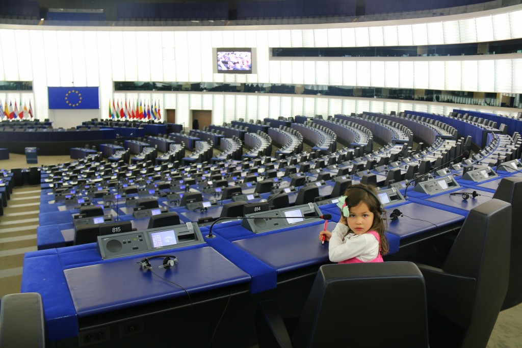 My girl inside the European Parliament Chamber in Starsbourg, France. It was a privilege to get inside.