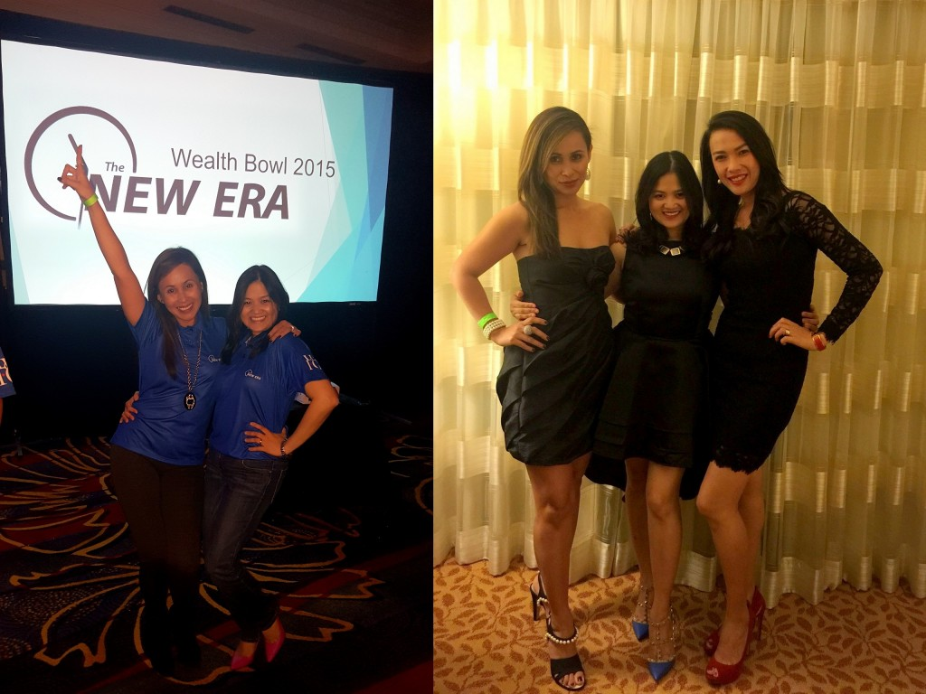 WFG - Wealthbowl 2015 With my friends, Jie and Babette